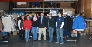 DRS employees at clothing donation event