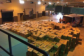 Hurricane Harvey relief supply stockpile