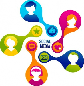 Social media management team graphic