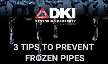 DKI 3 tips to prevent frozen pipes images with icicle background