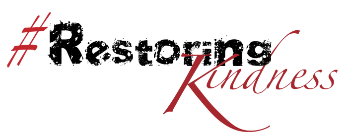 DKI Restoring Kindness hashtag in black and red
