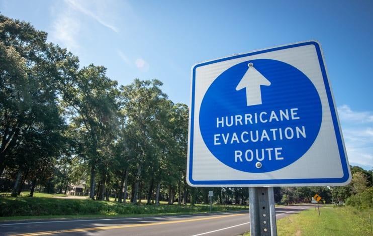 Hurricane Evacuation Route Sign 2