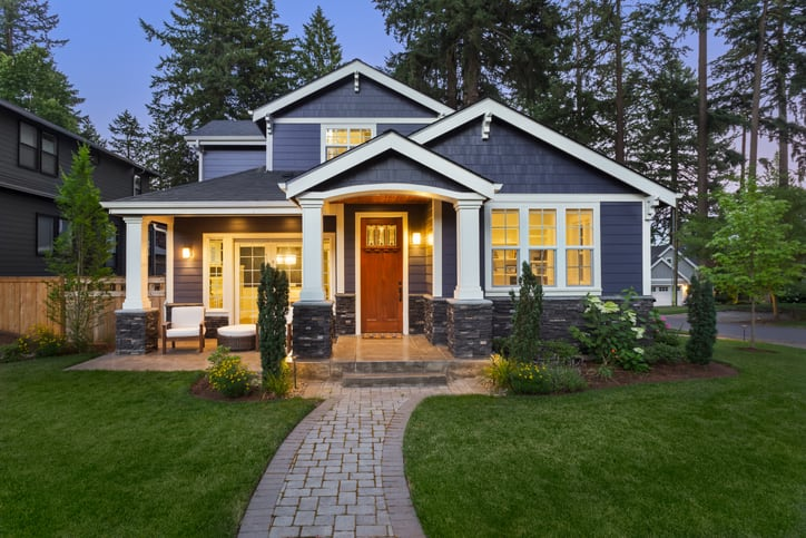 A beautiful home with home owners insurance for protection