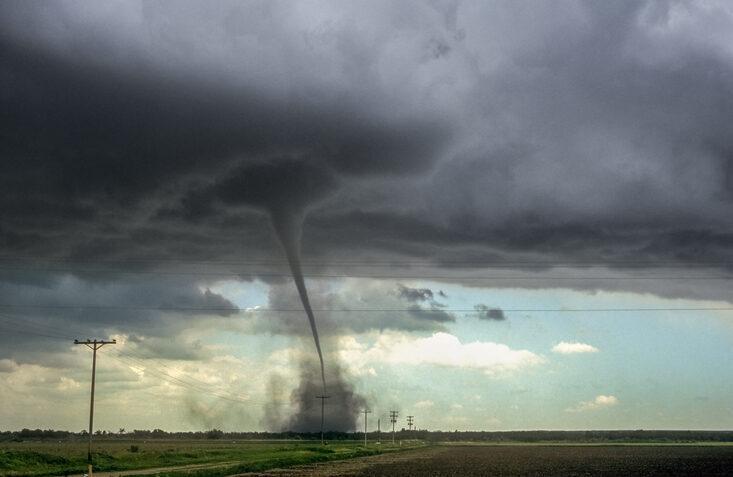 Strong tornado over the plains of eastern Colorado